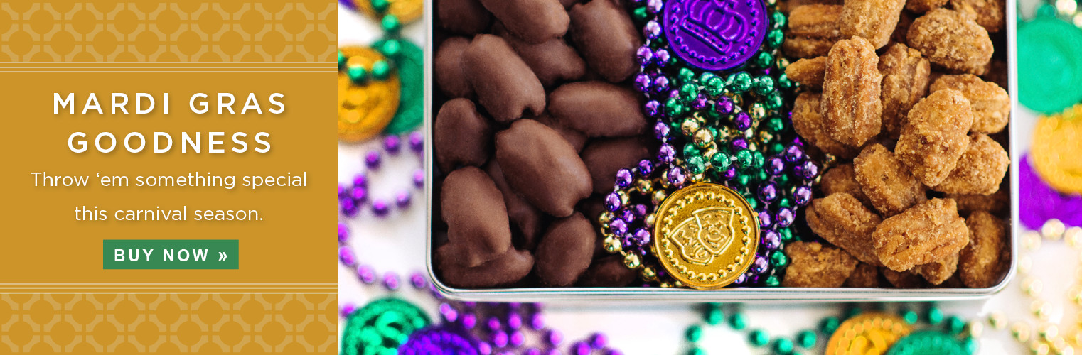Mardi Gras goodness. Throw 'em something special this carnival season.