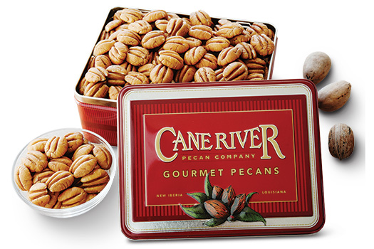 Assortment of Elliot Pecan Gift Tins and Gift Boxes by Cane River Pecan