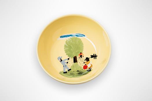 Clementine Hunter Pecan Threshing Salad Plate