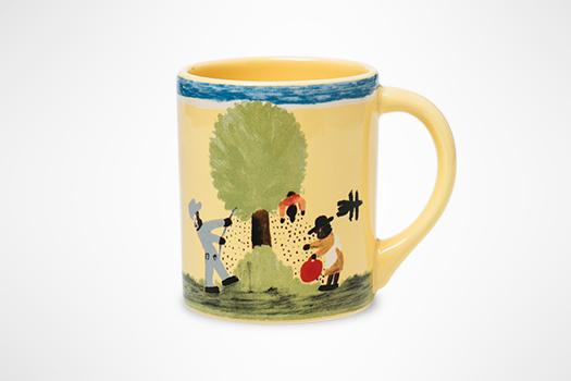 Clementine Hunter Pecan Threshing Mug