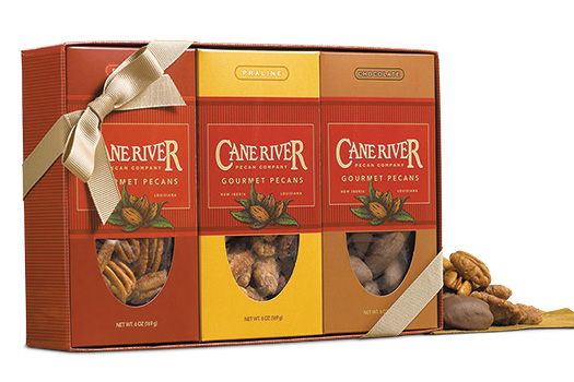 Salted, Chocolate and Praline Pecan Gift Box Sampler