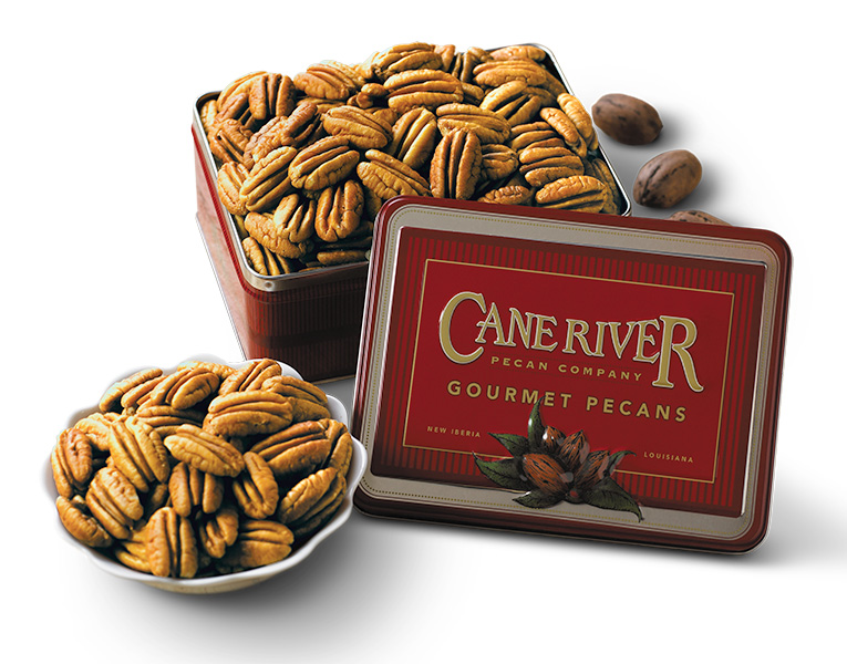 Cane River All Natural Mammoth Pecans Gift Tins and Boxes